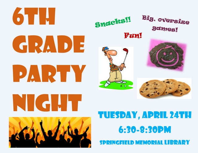 6th Grade Party Night