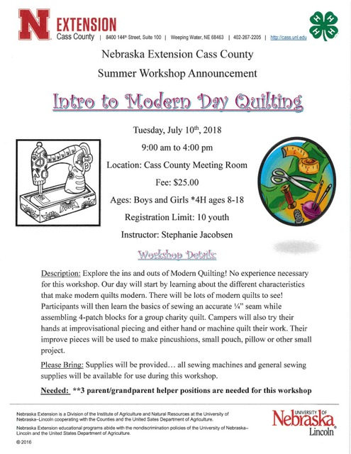 Cass county Quilting