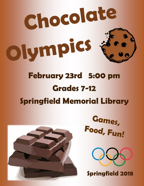 Chocolate Olympics Flyer