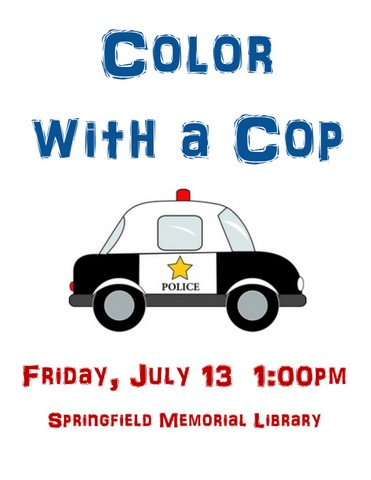 Color with a Cop flyer