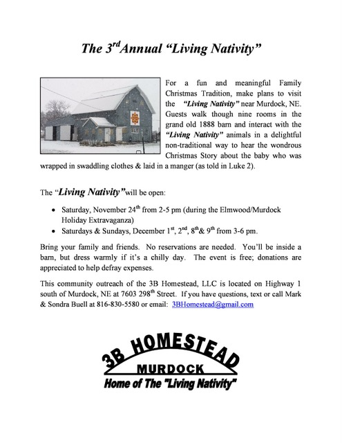 Living Nativity Flyer for 2018 e newsletter page 0