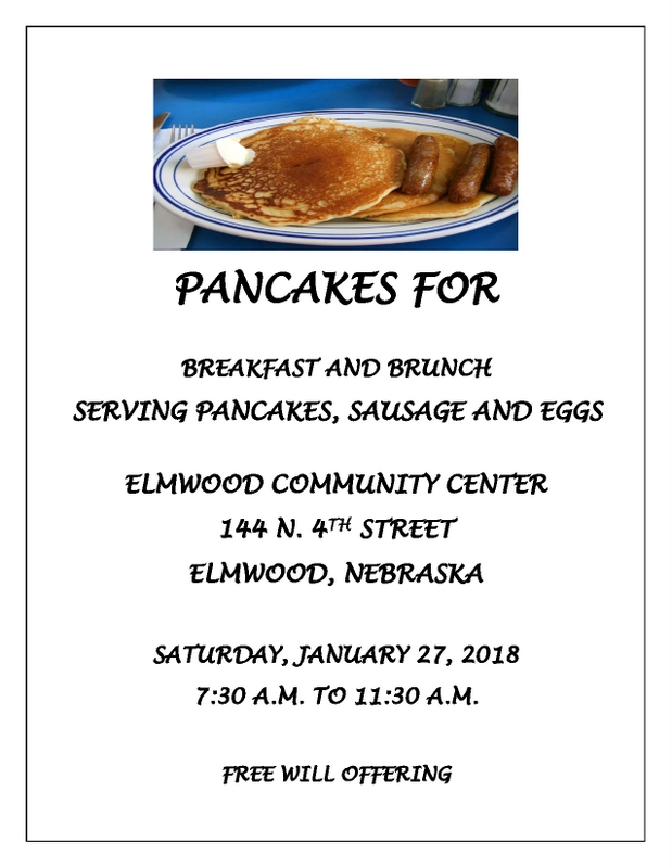 PANCAKES FLYER community center