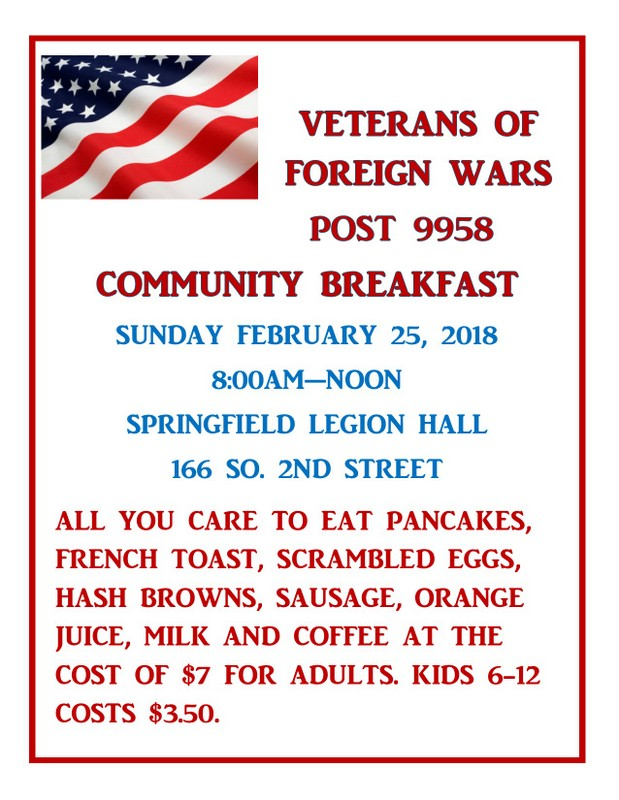 VFW Breakfast Feb 001
