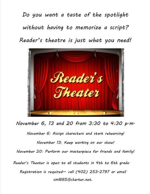 Readers Theater flier