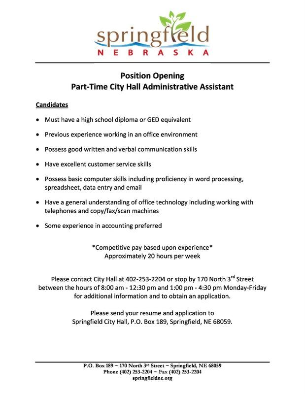 Part Time Office Assistant Ad
