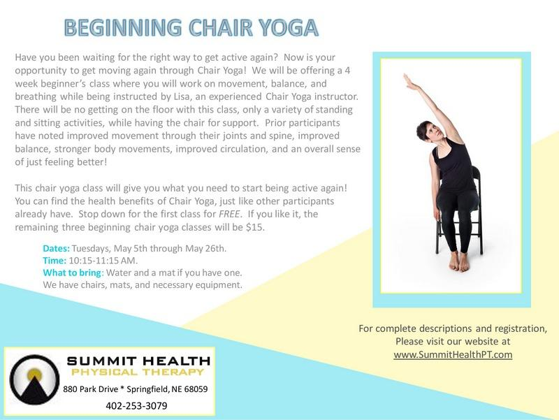 fitness benning chair yoga flyer page 0