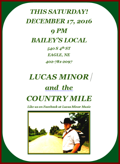 2016 12 14 EGL Lucas Minor the Country Mile