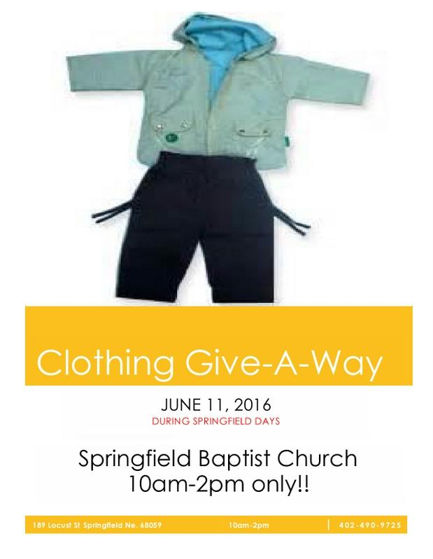 CLOTHING GIVE A AWAY 2016