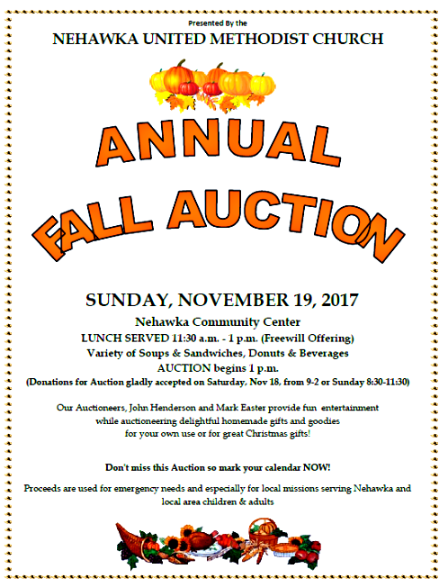 2017 11 08 NEH UMC AUCTION