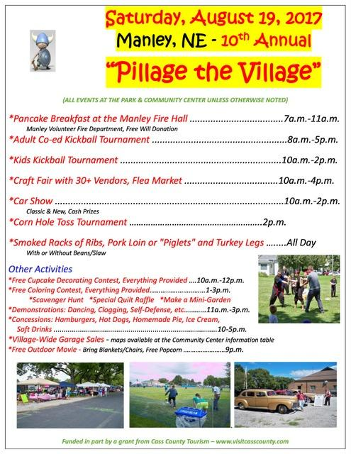 2017 Pillage The Village Flyer
