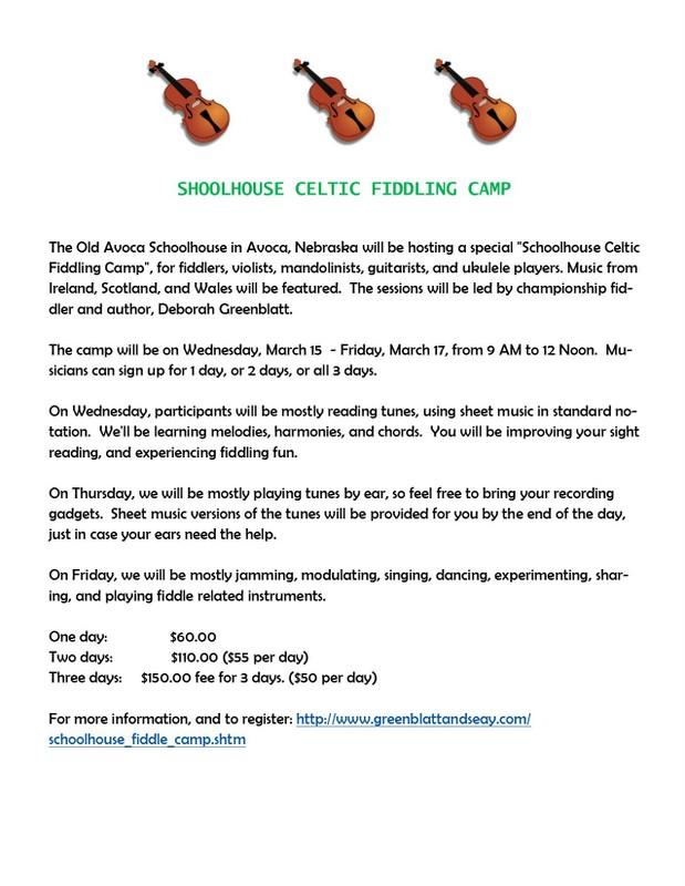 Celtic Fiddling Camp