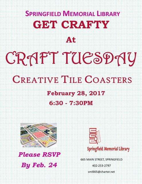 CraftyTuesday Feb