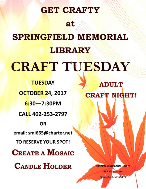 Crafty Tuesday Oct2017