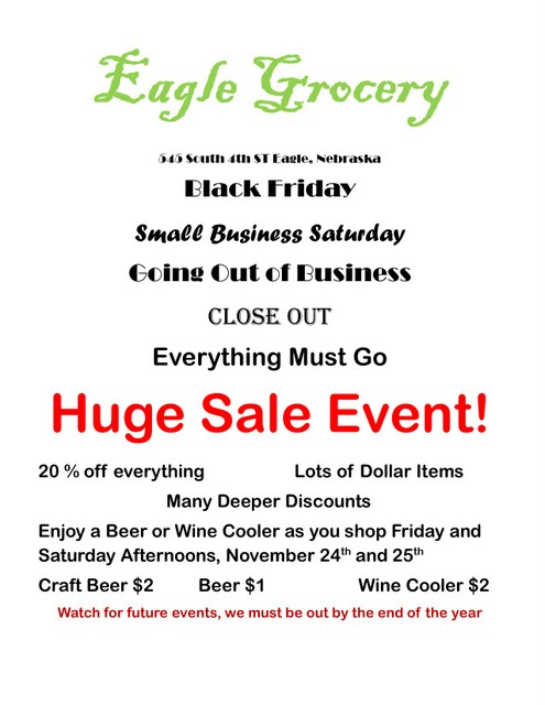 Eagle Grocery Sale