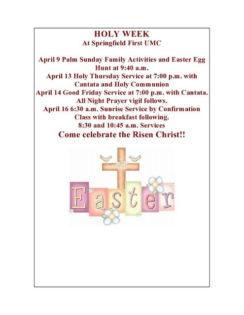 Easter week flyer