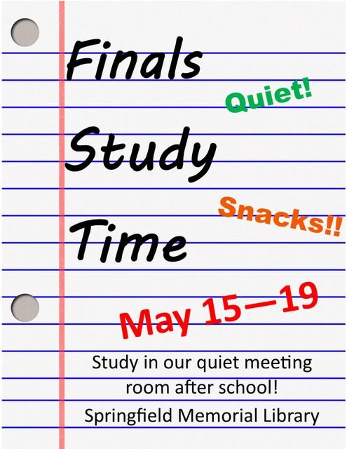 Finals Study Week Flyer