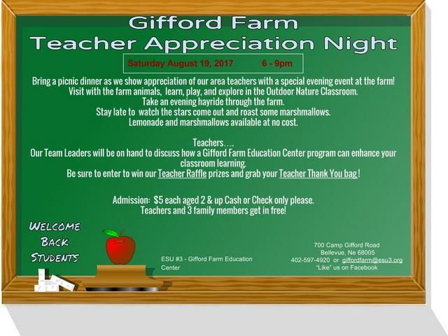 Gifford Farm 2017 Teacher Appreciation
