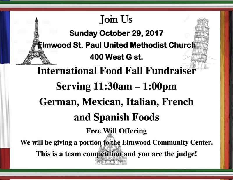 Internation Food fundraiser