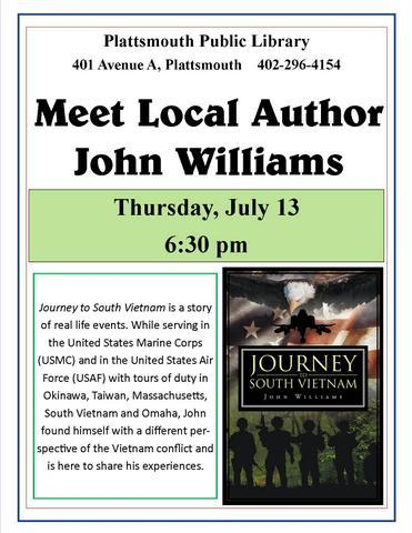 John Williams 7.13.2017 local author