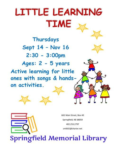 Little Learning flyer