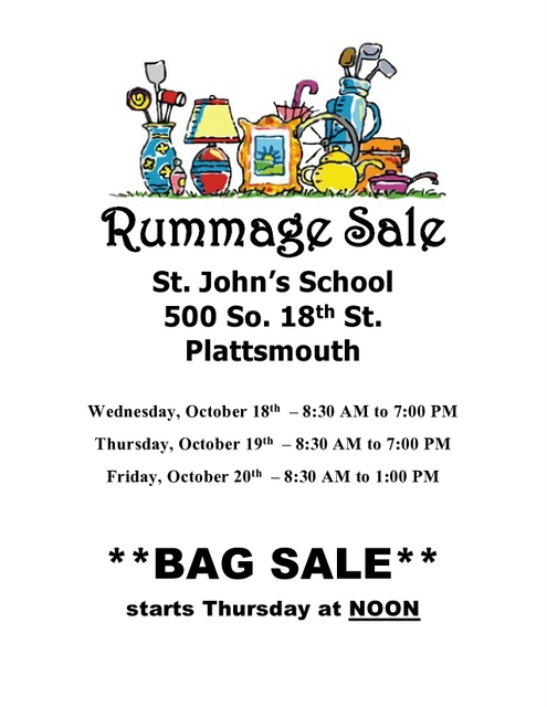 October Rummage Sale