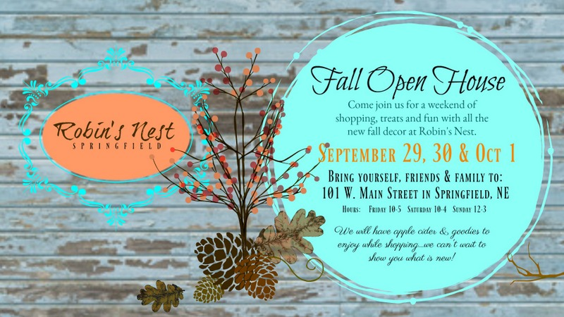 Robins nest Fall Open house