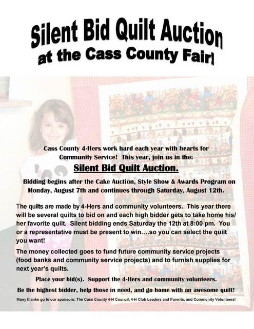 Silent Quilt Auction