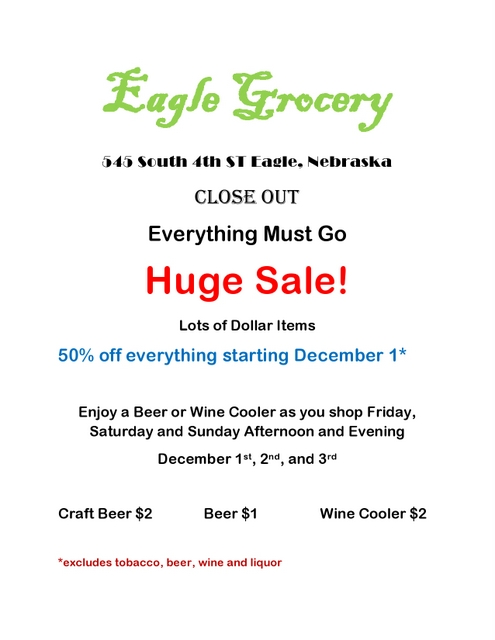 eagle grocery ad