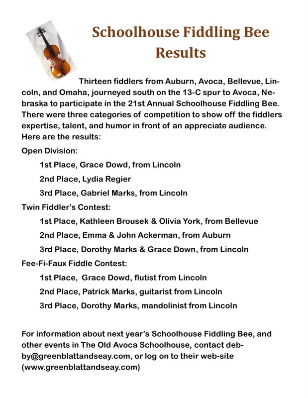 fiddle Bee Results