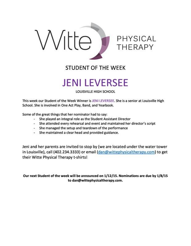 Student of the Week Leversee