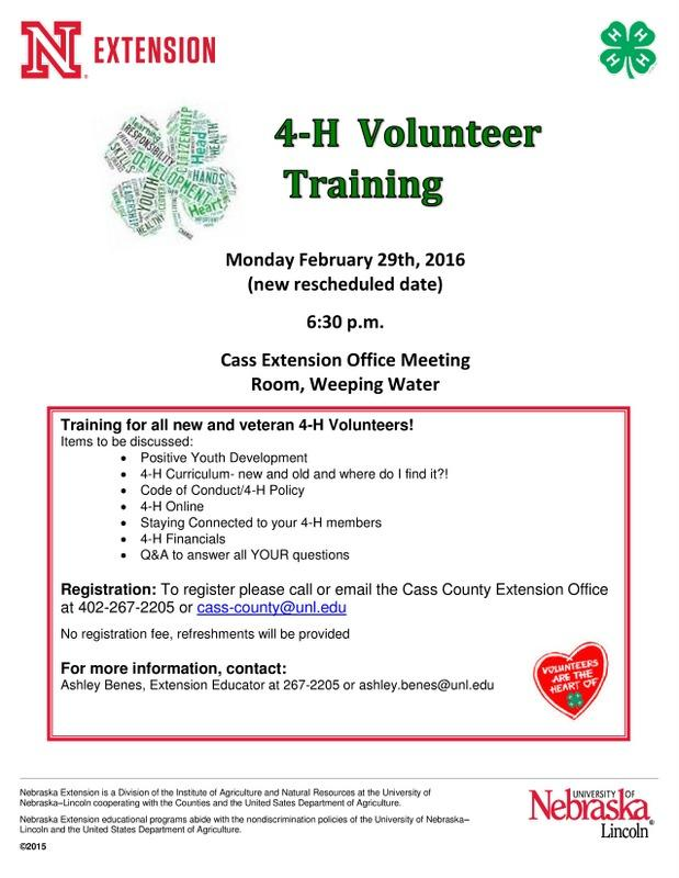 Volunteer Training flyer