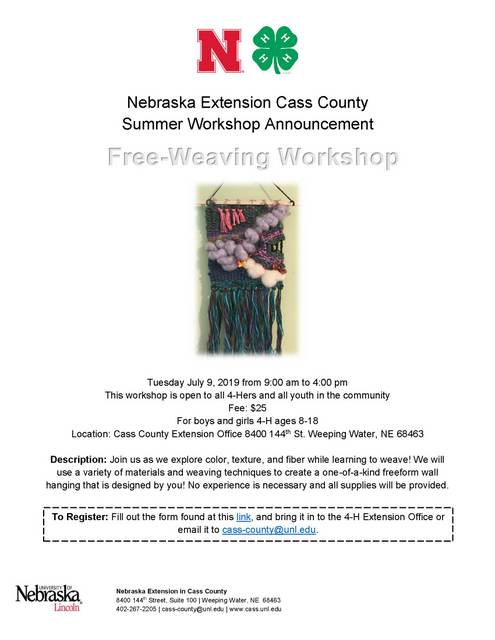 2019 Free Weaving Workshop