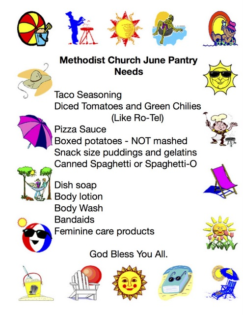 June Pantry Needs