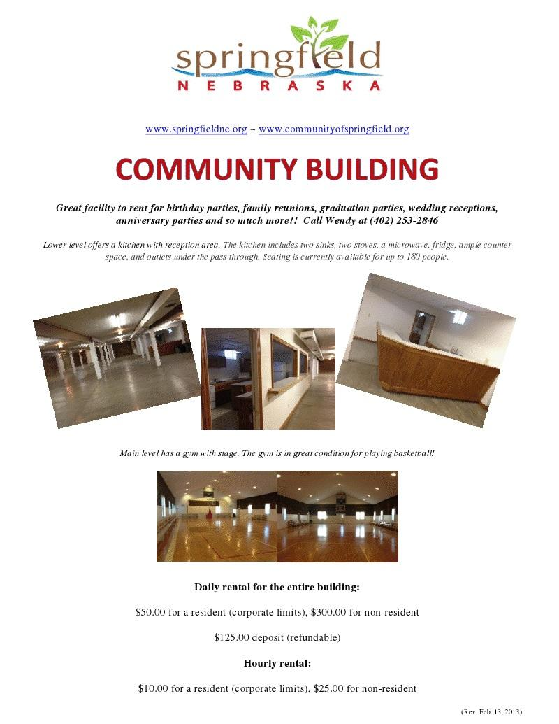 community building flyer